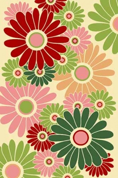 FLOWER - VR10 - CREAM-RED
