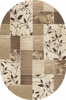 D306 CREAM-BROWN OVAL