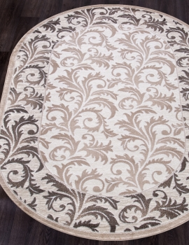 D327 CREAM-BROWN OVAL