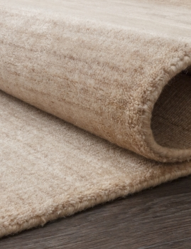 WOOL VISCOSE BORDERED - HL 754 - NATURAL-BEIGE-BROWN