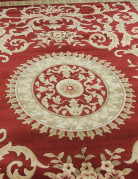 Woolen Machine-made carpets - ZY2336MA - RED
