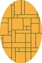 COMFORT SHAGGY 2 - s639 - ORANGE-GREEN