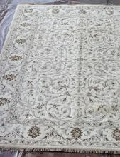Индия шерсть шелк 14x14 - 790A - IVORY / IVORY