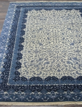 Индия шерсть шелк 14x14 - 863 - IVORY/D.BLUE