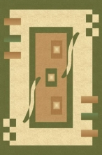 PACIFIC CARVING - 0287A - CREAM / D.GREEN