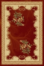 PACIFIC CARVING - 0514A - RED / CREAM