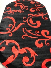 PACIFIC CARVING - 0522 - BLACK / FLAG RED