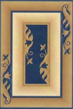 PACIFIC CARVING - 277 - NAVY / CREAM