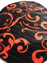 PACIFIC CARVING - 522 - BLACK / FLAG RED