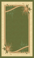 PACIFIC CARVING - 549 - D.GREEN / CREAM