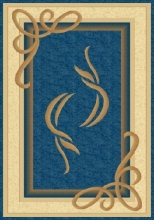 PACIFIC CARVING - 94 - NAVY / CREAM