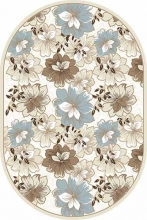d322 CREAM-BROWN OVAL